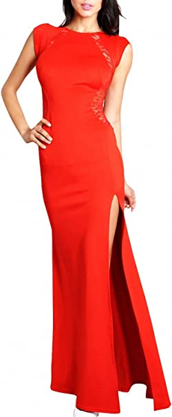 Langes schlitz rotes kleid mit Top 10