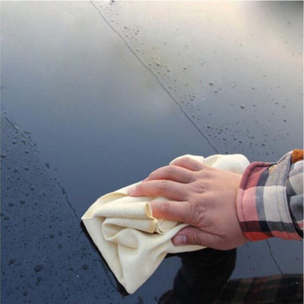 Aprox. 25 x 40 cm NIU MANG Gamuza Absorbente de Secado r/ápido 3 pa/ños de Gamuza Natural para Limpieza de Coche