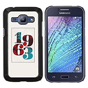 Jordan Colourful Shop - 1963 BORN POSTER VINTAGE YEAR NUMBER For Samsung Galaxy J1 J100 J100H - < Personalizado negro cubierta de la caja de pl????stico > -