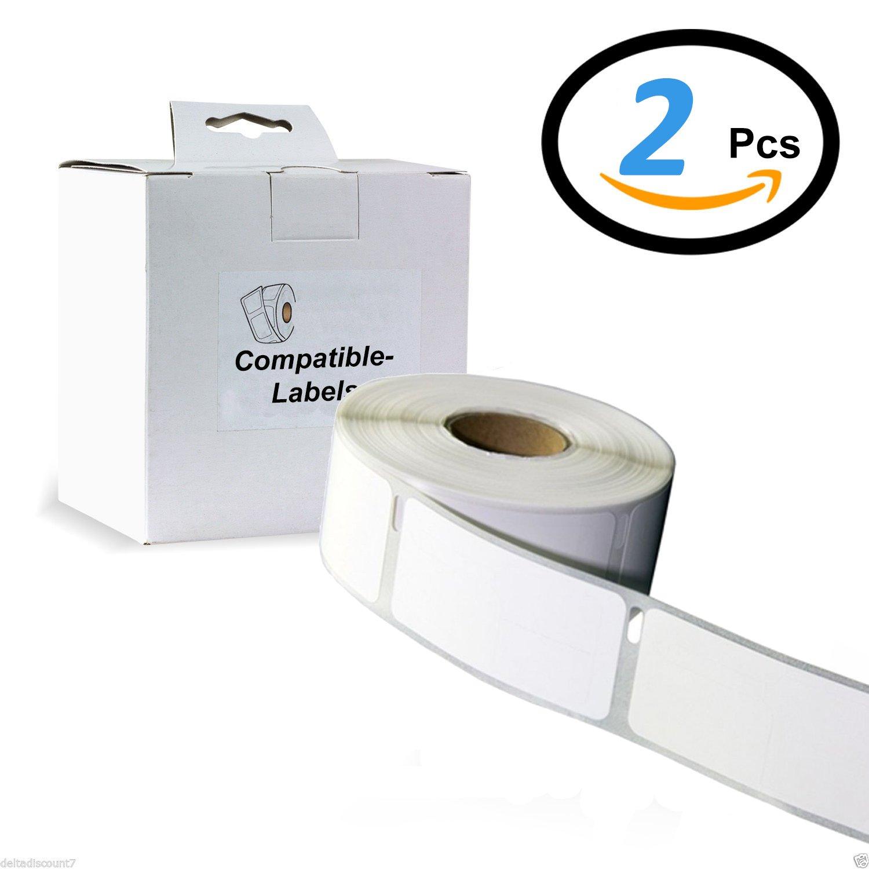 2 X ColourDirect 99010 Etichette Bianche ( 28mm X 89mm ) 130 Etichette Per Rotolo - Compatibile Con Scrittore Di Dymo Label E Seiko Stampanti Per Etichette Colour Direct