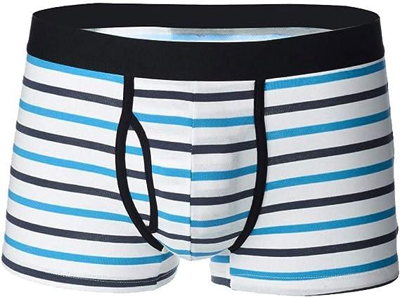 Xmiral Underwear Boxer Uomo Slip Sexy Traspirante con Mutande Traspiranti  morbide e Intimo a Righe in Stile Nuovo (L,1- Azzurro): Amazon.it:  Abbigliamento