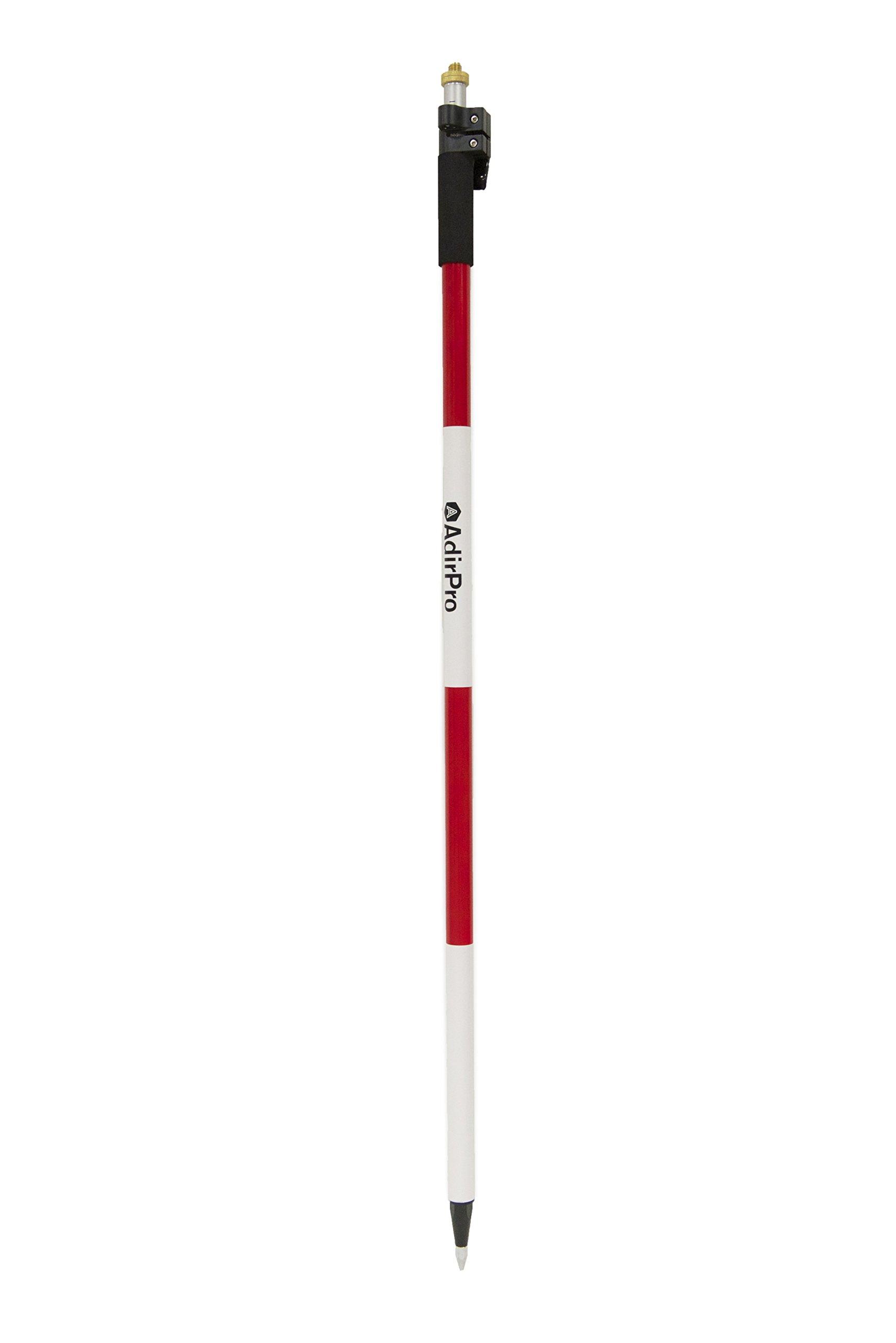 AdirPro Aluminum Prism Pole with Quick Release Clamp 12' (3.7m)