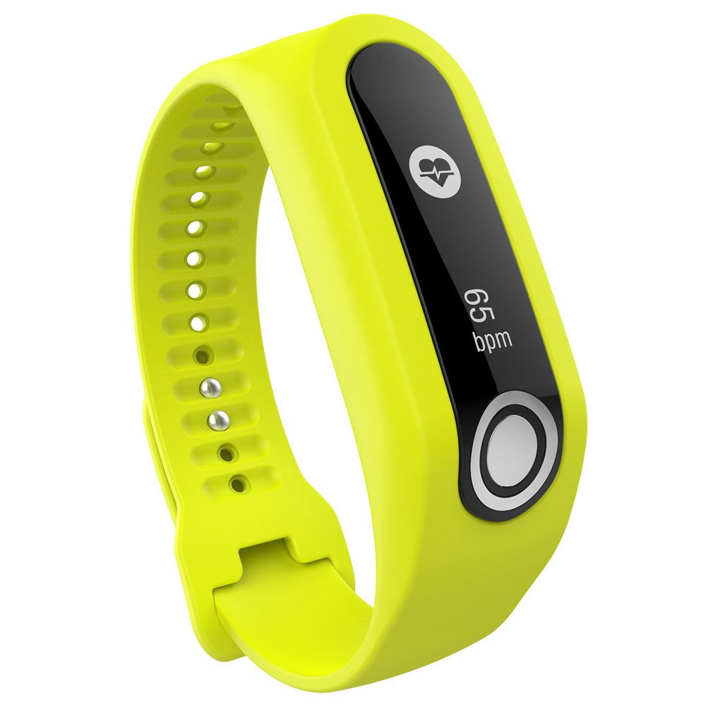 CSSD Fashion Replacement Silicone Watch Bands Strap for Tomtom Cardio Activity Tracker (Yellow)
