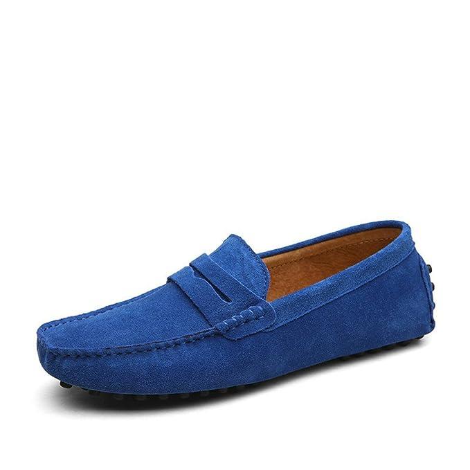 Bridfa Estilo de moda de verano Mocasines suaves Mocasines de los hombres Zapatos de cuero genuino Zapatos de conducción de pisos de los hombres: Amazon.es: ...
