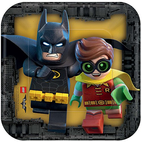 Best Price American Greetings Boy's Lego Batman Square Plate (8 Count), 7
