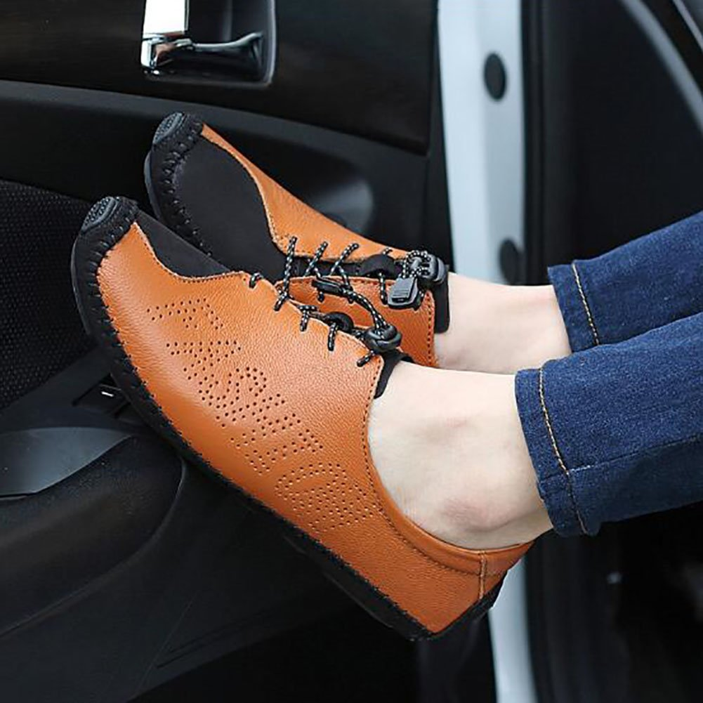 QSYUAN Herrenschuhe Neue Neue Neue Casual Wild Peas Schuhe Wohnungen Loafers & Slip-Ons & Comfort Rutschfeste Breathable Wearable Driving schuhe & Business & Walking,Weiß,43 9cf24c