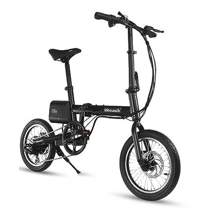 Eléctricas Bicicleta Plegable. Coche Rueda de 12 Pulgadas. Vehículo (Color : Black,