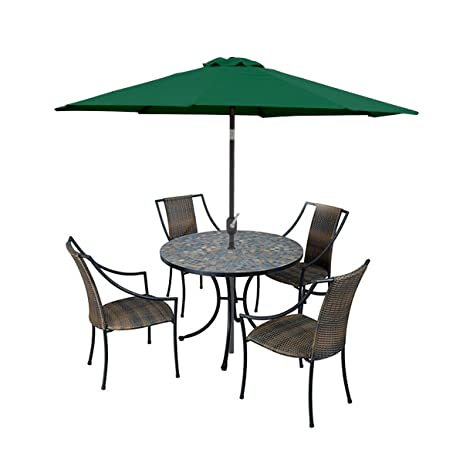 Apontus Market Patio Umbrella Tilt W/ Crank 9u0027 Ft, Green