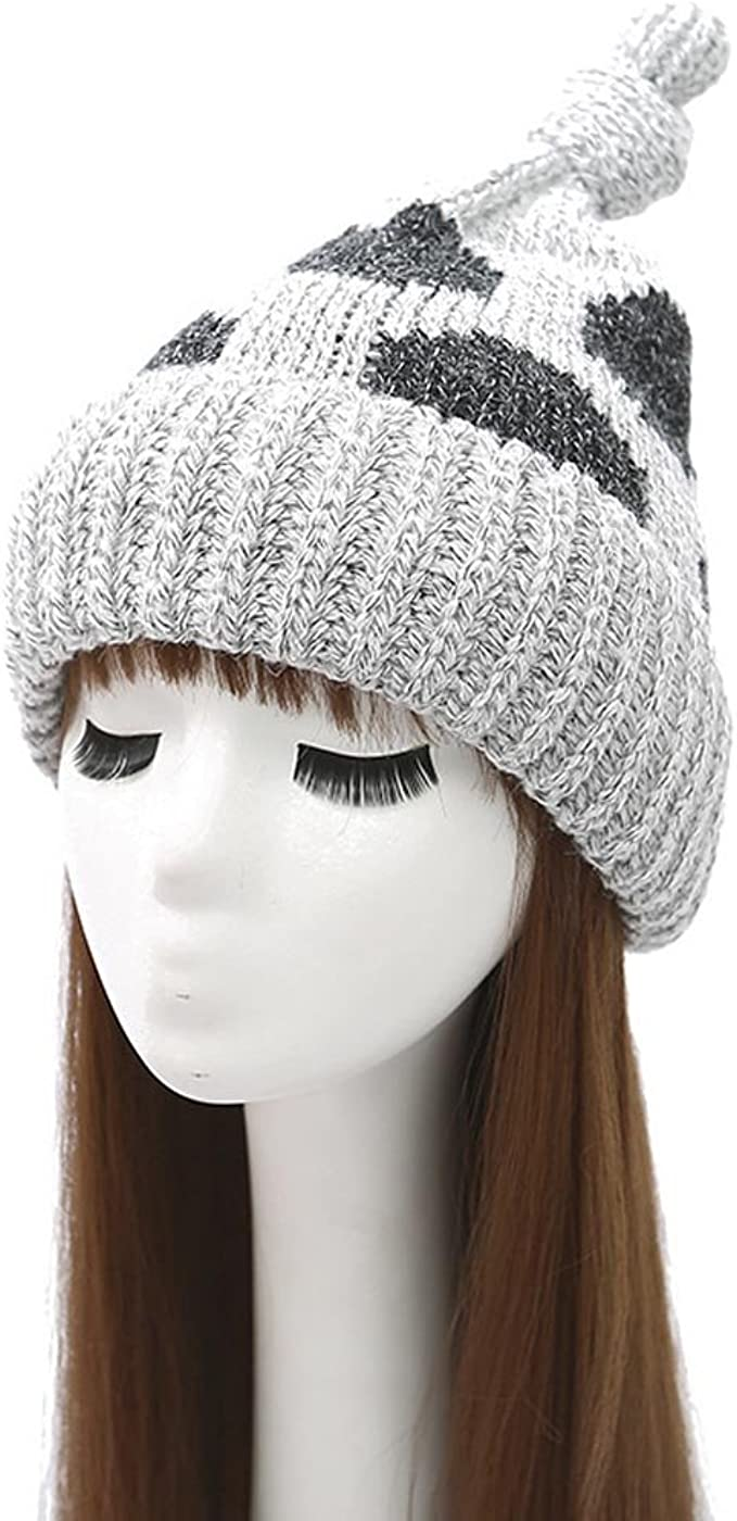 winter beanie polka dot beanie knit beanie chunky beanie
