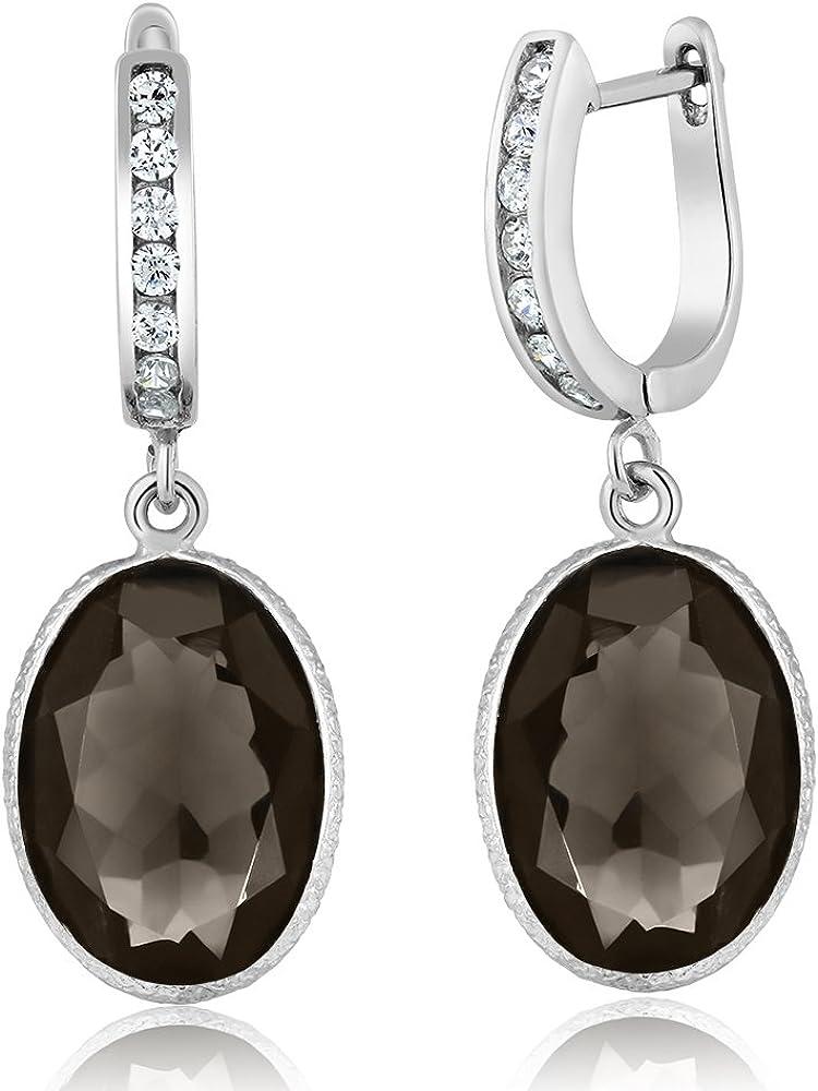 Handmade Silver Earring Jewelry Smoky Quartz Natural Gemstone 925 Sterling Silver Dangle Earring Silver Dangle Earring Gift For Her