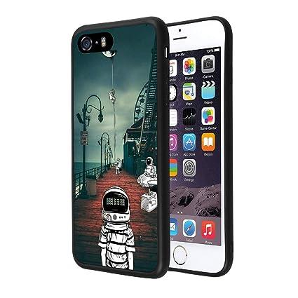 Amazon.com: Carcasa para iPhone SE 5S y 5, diseño de la ...