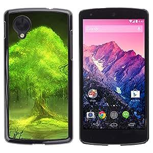 Paccase / SLIM PC / Aliminium Casa Carcasa Funda Case Cover - Trees world - LG Google Nexus 5 D820 D821