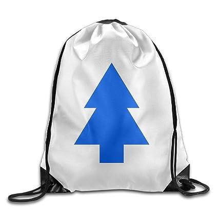 954b77d6b8e2 Amazon.com  Dippers Blue Pine Tree Drawstring Backpack Cool Sports ...