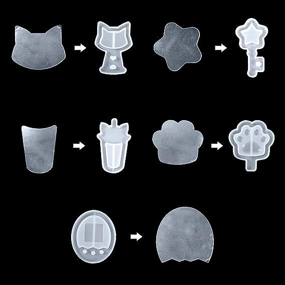 iSuperb 50PCS Adesivi in Plastica Sottili Rettangolare Pet Pellicola Protettiva Sigillante Trasparente per Realizzare Gioielli con Ciondoli Quicksand Taglio Libero Plastic Stickers