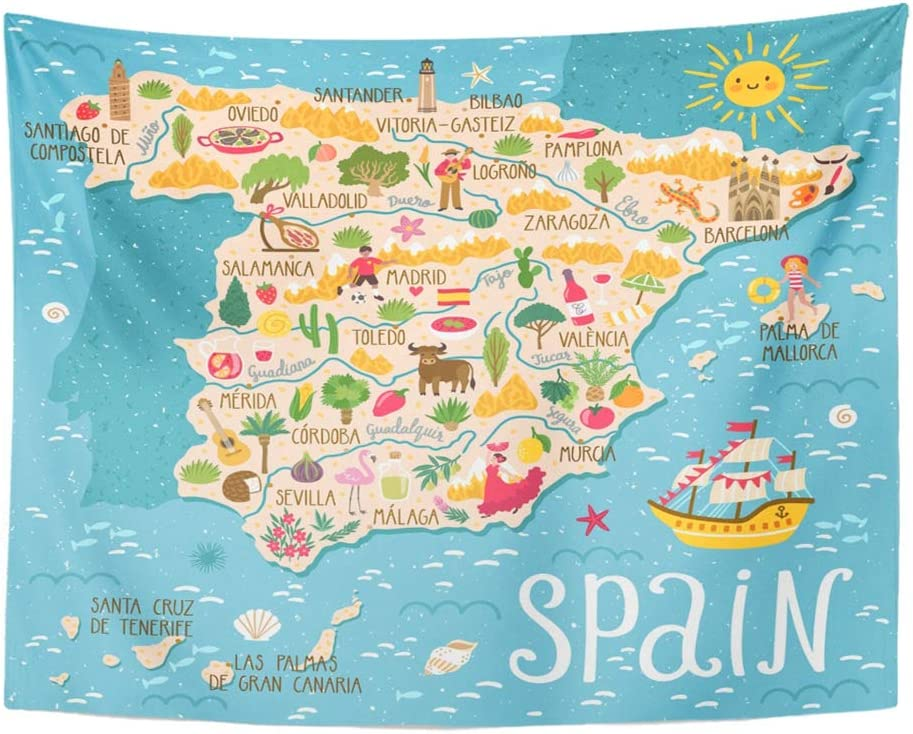 Map of spain and mallorca