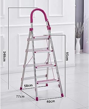Escaleras Escalera de 4 peldaños, Escalera plegable de aluminio, Peso ligero, Sostiene hasta 150 kg, Taburete con peldaños, Escalera telescópica, Escalera de tijera, Escalera multiusos (Color : C): Amazon.es: Bricolaje y herramientas