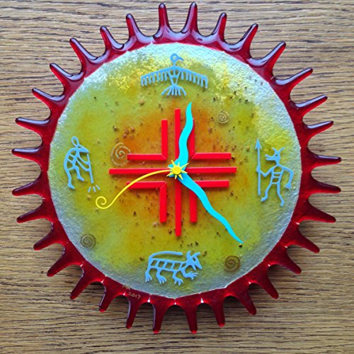 Arizona Sun Fused Glass Wall Clock - Fused Glass Clock