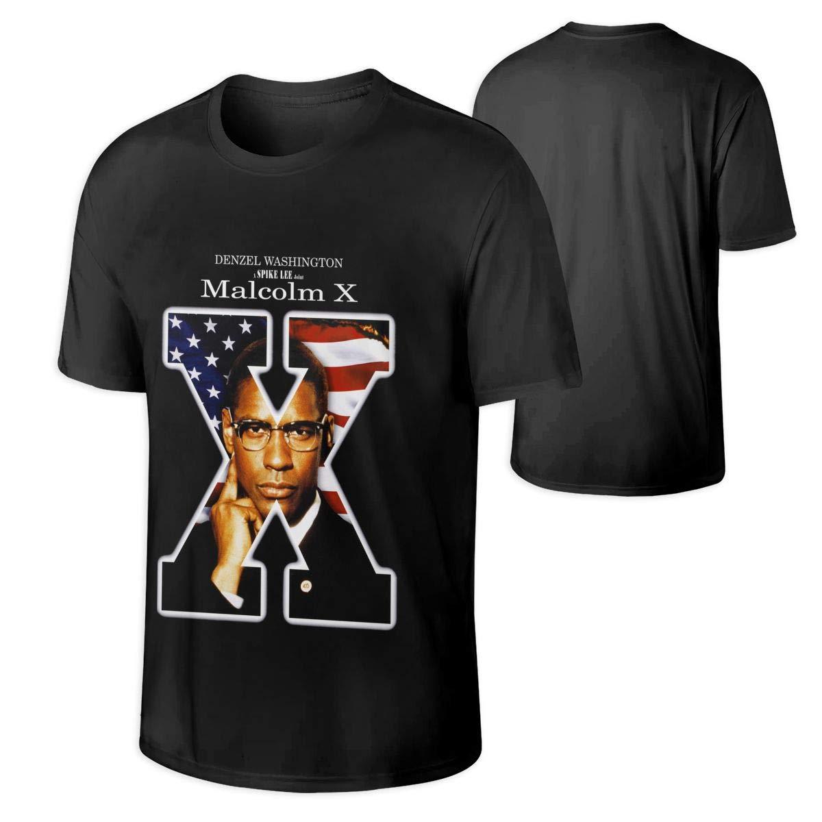 Mans Malcolm X Stylish Rock Fans T Shirts Gift