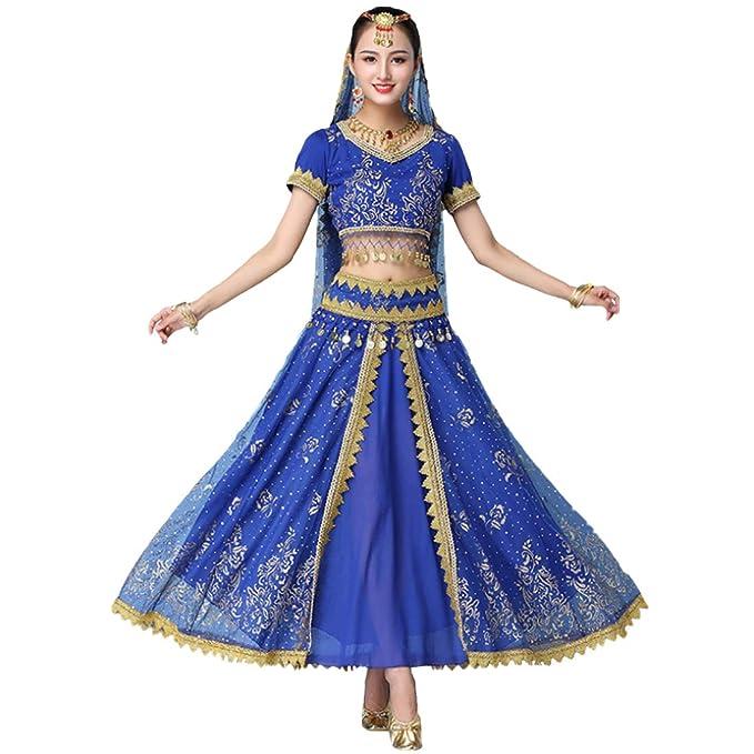 Aiweijia Mujeres Set de 4 Piezas India Baile Folclórico ...