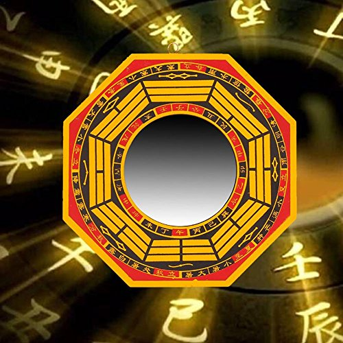 FengShui Bagua Mirror for Protection,for Protection Against Passive Negative Energy,for Protection Against Active Harmful Energy Convex 7
