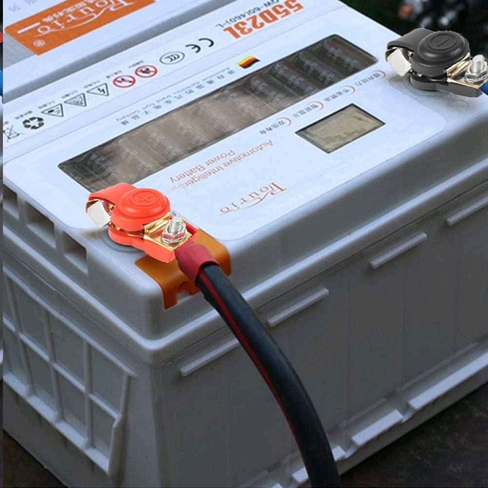 HO2NLE 1 Paar Batterieklemme 12V 24V Batterie Polklemme Schnellklemmen Autobatterie Steckverbinder Batterieclips Boot KFZ PKW