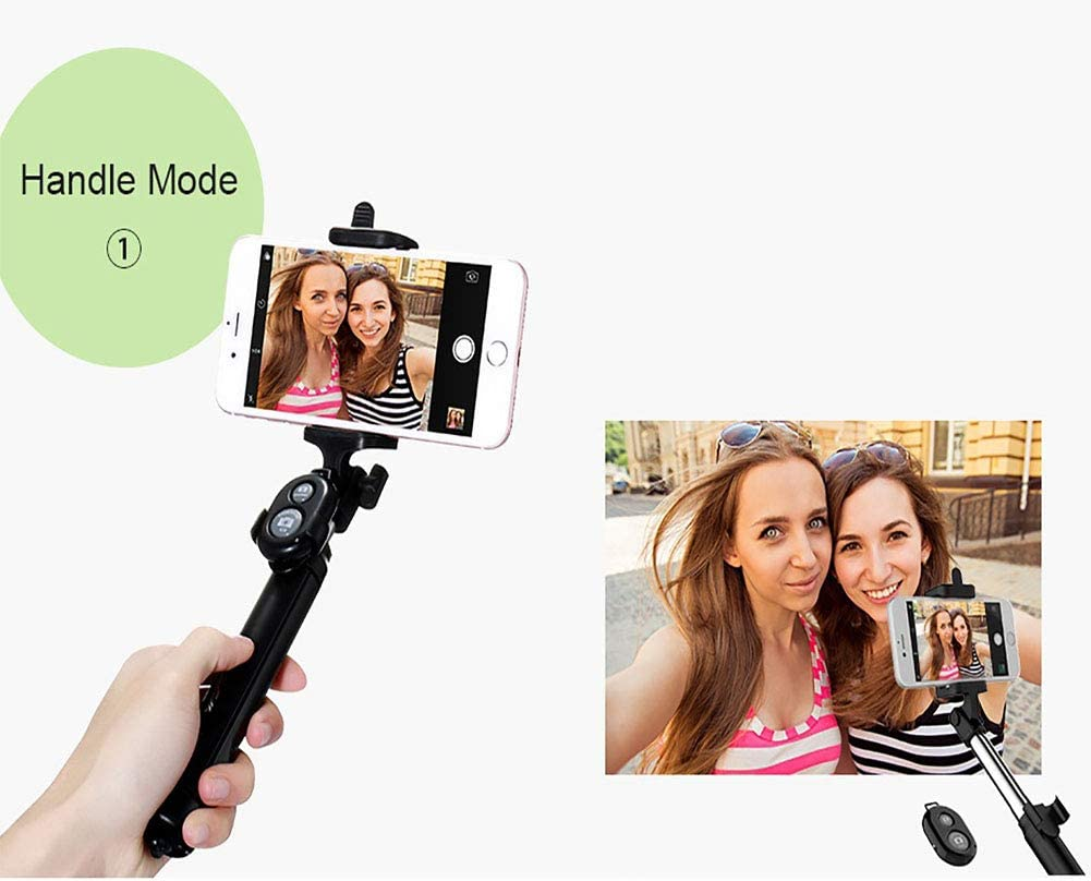 CHUANG TIAN Bluetooth Selfie Stick Black with Tripod Wireless and Extendable Selfie Stick with Bluetooth Remote Control for iPhone 8//8 Plus//Samsung S7 Edge//Sony Xperia XZ Premium