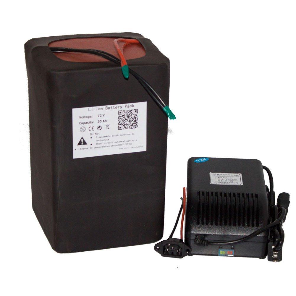 agli ioni di litio 72V 30Ah LiFEPO4batteria portatile per e-bike scooter Power Packs + Bms 5a caricatore BJBattery