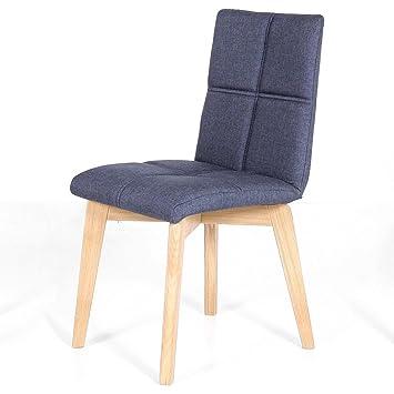 Stuhl Manon esszimmerstuhl stuhl manon blau eiche natur massiv mit
