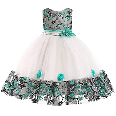 edbe170b81544 Yezijin Toddler Baby Girls Floral Baby Girl Princess Bridesmaid Pageant  Gown Birthday Party Wedding Dress 1