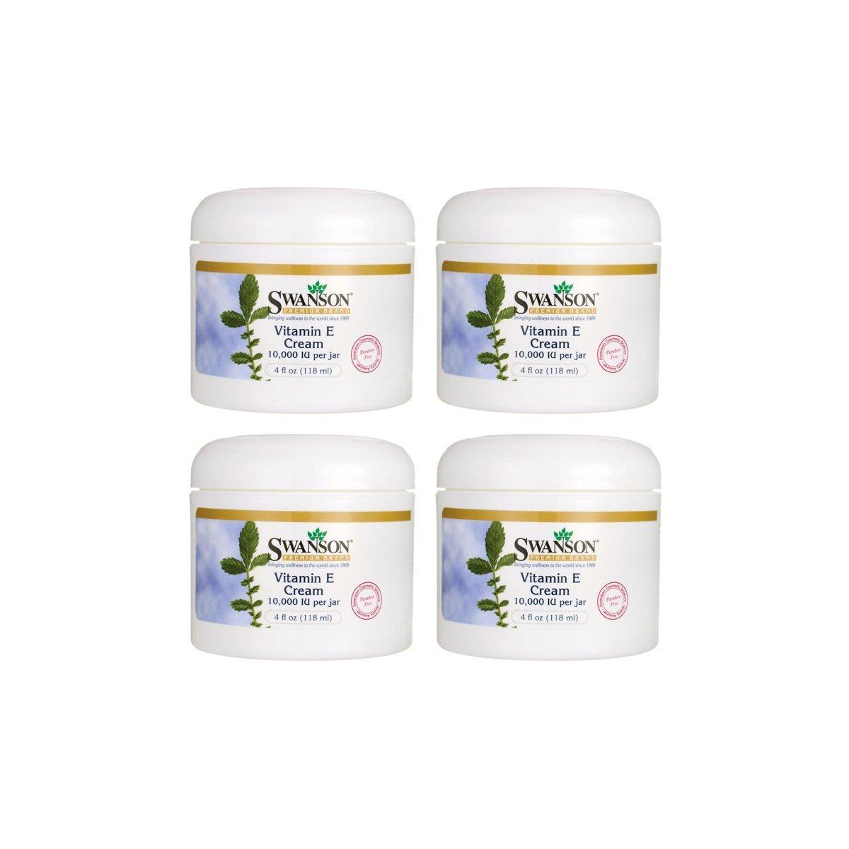 Swanson Vitamin E Cream 4 fl oz Cream 4 Pack