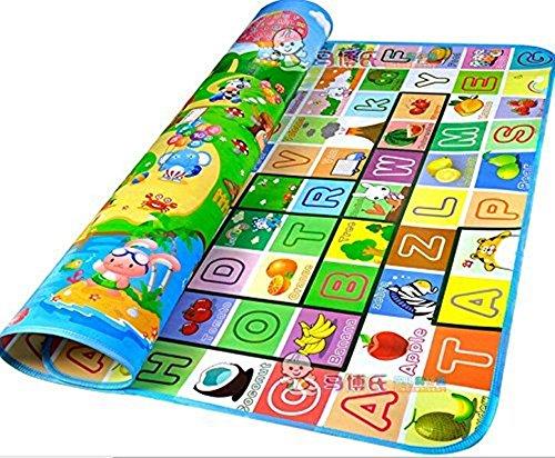 Baby-Kind-Kleinkind Spielteppich Crawl Mat Spielmatte Babyschleichenmatte Picknick-Decke 200*180CM