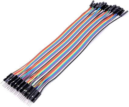 40pcs Dupont Wire Color Jumper Cable 2.0mm 2P Female to Female Pin Head 20cm