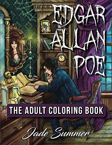 Edgar Allan Poe: An Adult Coloring Book with Classic Horror Characters and Haunting Gothic Scenes for -