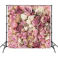 5x5ft Pink Rose Backdrop Children Brithday newborn Photography portrait Background Studio Prop Flower Wall D-8059