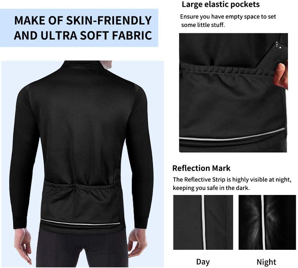 Veste Velo Thermique Respirant Manches Longues V/êtement Coupe-Vent Sportwear pour V/élo Marche Alpinisme,Running FEIXIANG Veste Cyclisme Homme