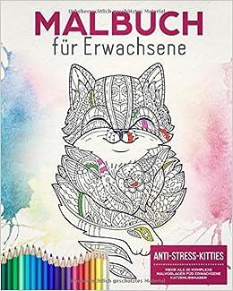 Malbuch Für Erwachsene Anti Stress Kitties Mehr Als 30 Komplexe