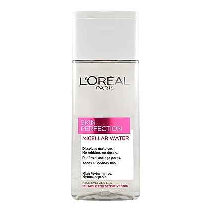 Glamorous Mart - LOréal Perfección Piel agua micelar-3en1 solución micelar Purifiying 200