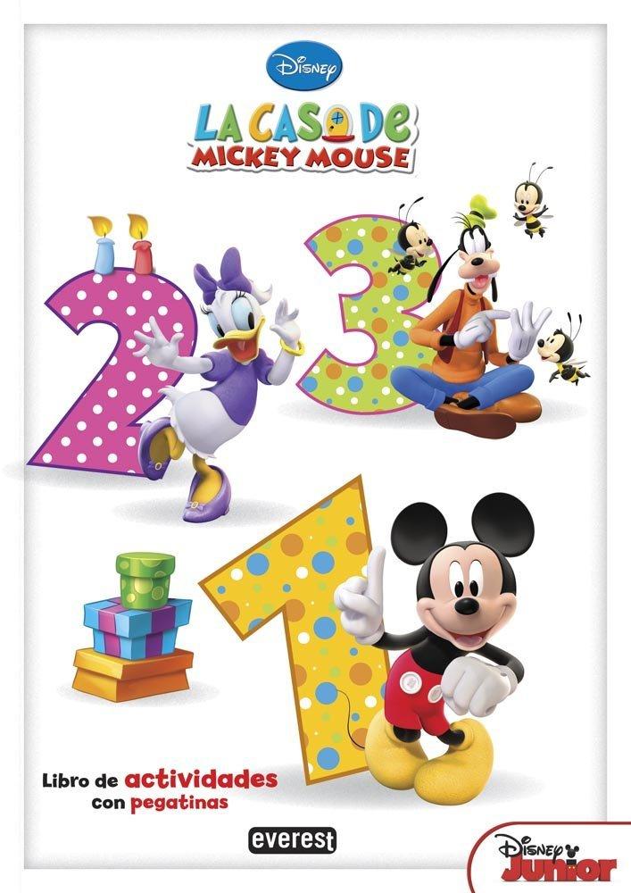 La Casa De Mickey Mouse. 123 Libros de colorear y actividades Disney ...