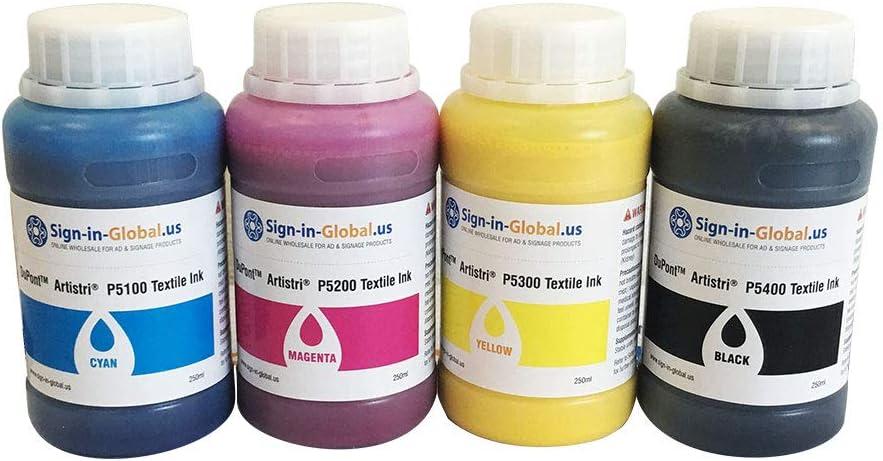 Amazon.com: Tinta DTG Dupont de tinta textil ARTISTRI CMYK ...