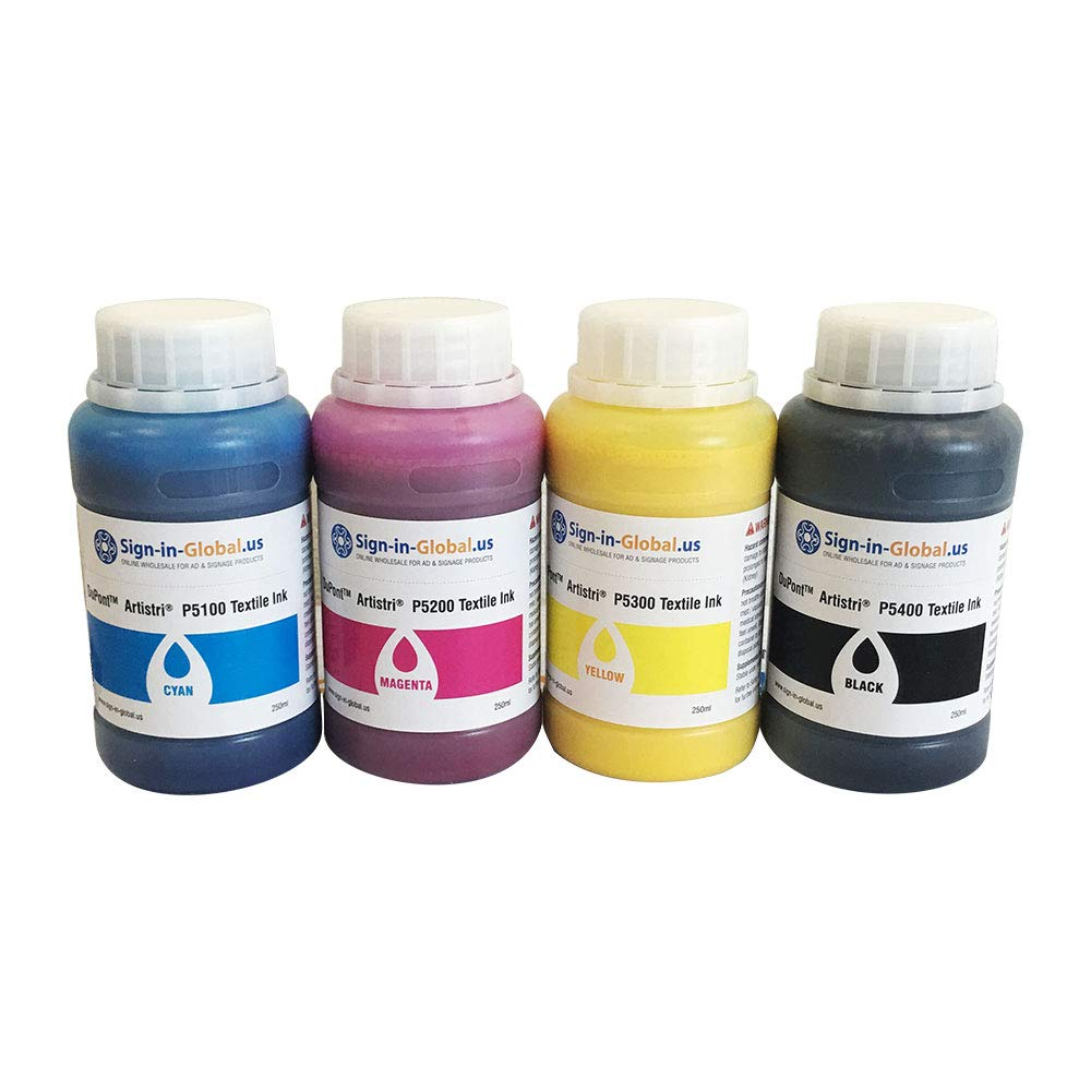 Tinta textil DTG Ink Dupont ARTISTRI CMYK para impresoras de ...