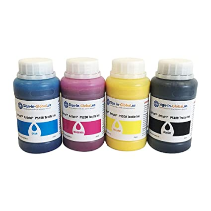 Amazon.com: DTG Ink Dupont Textile Ink ARTISTRI CMYK Textile ...