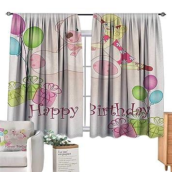 Amazon.com: Familytaste - Cortinas anchas para cumpleaños y ...