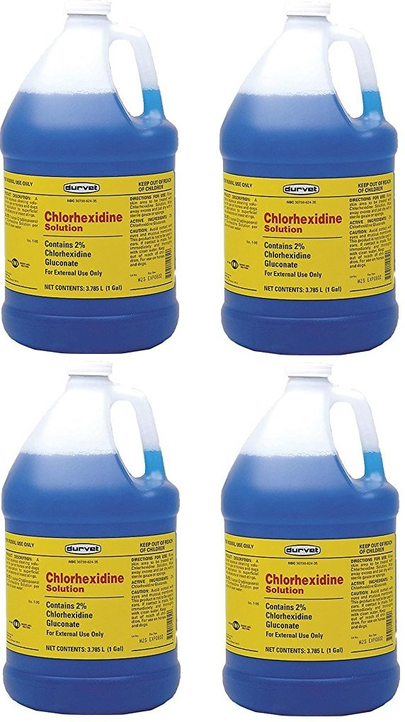 Chlorhexidine (Case of 4) 2% for Horses & Dogs, One Gallon by Chlorhexidine