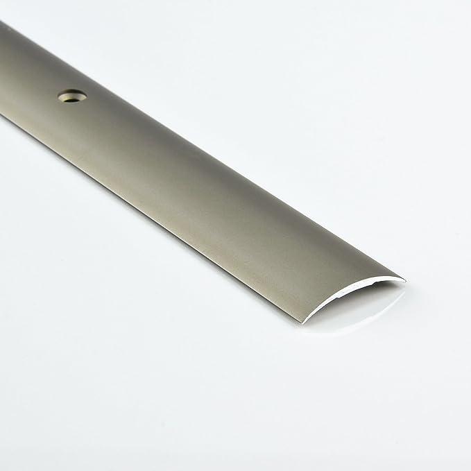 Schrauben Farbe: sahara DQ-PP 1 x ALU PROFIL /Übergangsprofil 30mm gebohrt inkl L/änge: 90cm Dehnungsprofil Teppichschiene Schweller Laminat Parkett NEU