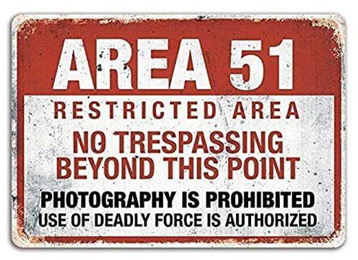 Sary buri Metal Poster Sign Area 51 Cartel De Arte De La ...