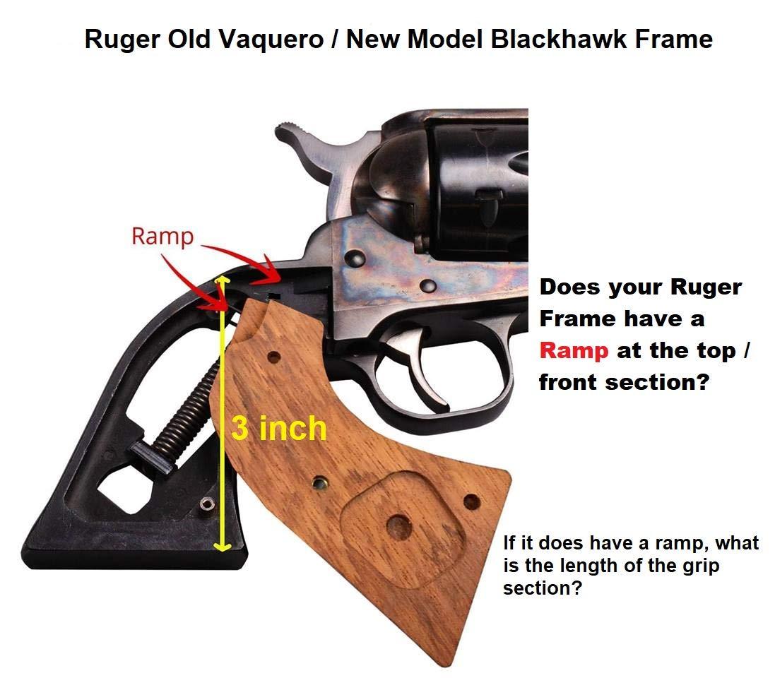 Ruger Grips Old Vaquero, New Model Blackhawk, Single Six, Single Nine,  Single Ten, Old Army Grips Solid Rosewood Fleur-de-lis
