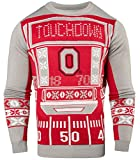 NCAA College Team Logo Mens Ugly Light Up Crew Neck Sweater (Ohio State Buckeyes, Medium)