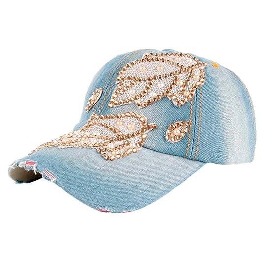 Tongshi Hombres Mujer Béisbol Gorra Casual Al aire libre Deportes El  Snapback Sombreros (Azul) 35d501d0516