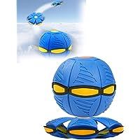 ZURITI Flygande tefat ventilationsboll, magisk deformering ljus platt boll, magisk frisbee boll utomhus ventilera boll…