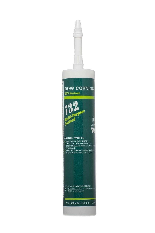 Dow Corning 732 Multi-Purpose Silicone Sealant - White, 10.1 Ounce